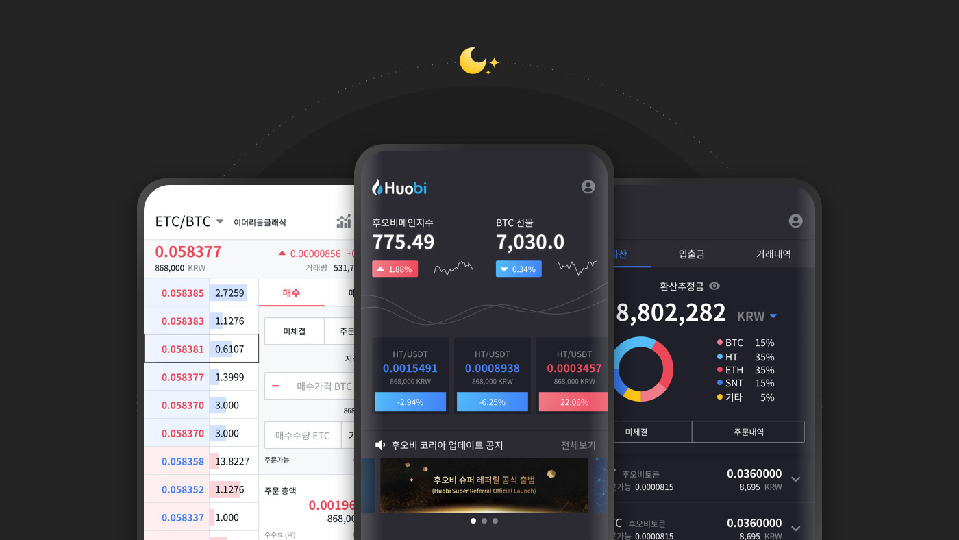 Huobi Korea app UI redesign proposal